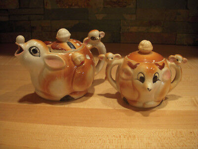 Vintage Rudolph Teapot and Sugar Bowl