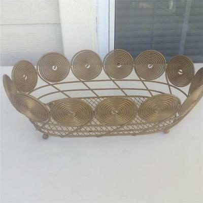 Vintage Mid Century Modern Tony Paul Raymor Retro Spiral Coil Wire Basket