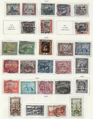 24 SAAR Stamps from Quality Old Antique Album 1921-1927