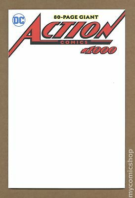 Action Comics (3rd Series) #1000 2018 Blank Variant VF 8.0