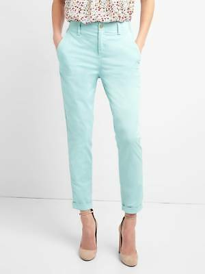 5d1b23d08bd GAP Women s Blue Twill Stripe Girlfriend Chino Pants 6 Tall NWT  60 Nature  Mist
