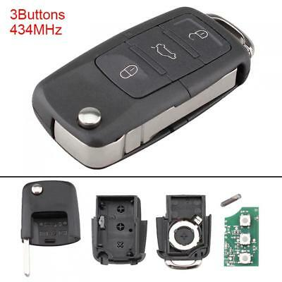 Remote Key Fob 1K0959753G 434Mhz for Volkswagen Vw Mk5 Golf Caddy Tiguan Touran