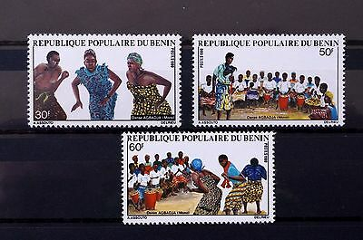 Benin 1980-1981 80s Mini Collection Tourism Pets Dancers Telephone Cats Dogs MNH
