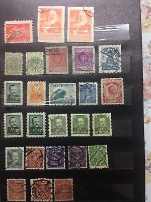 Old collection of Poland Stamps, 1919 to 1950, marked used