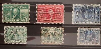 Old collection of USA stamps 1904 issues, used