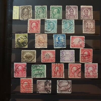 Old collection of USA stamps 1920s ordinary issues