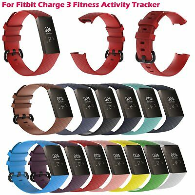 1* Silicone Wrist Band Sports Strap for Fitbit Charge 3 Fitness Activity Tracker