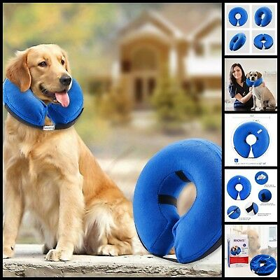 Inflatable Protective Collar Dogs Cats Soft Pet Recovery Collars Large 12-18""