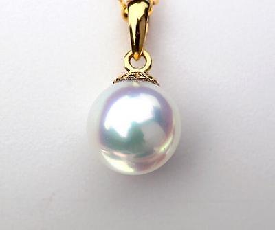 AAA 9-10mm natural south sea white pearl pendant