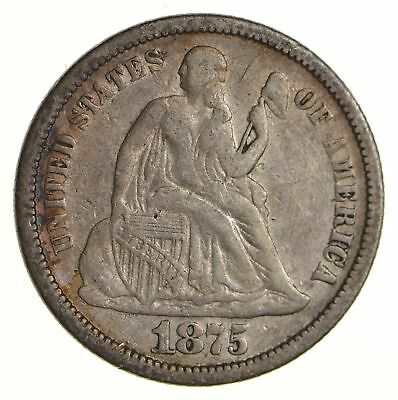 Historic 1875 Seated Liberty Dime *523