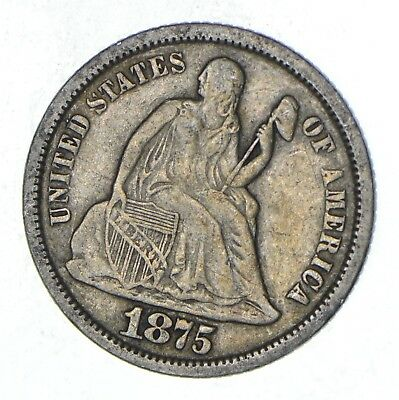 Full Liberty - 1875-S Seated Liberty Silver Dime *802