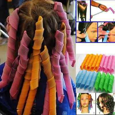 45cm Hair Curlers Spiral Ringlets Hairband Tool Magic Circle Simply Roller 40Pcs