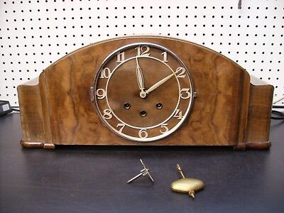 Mauthe Westminster Chime Mantel Clock, As Is for parts or repair