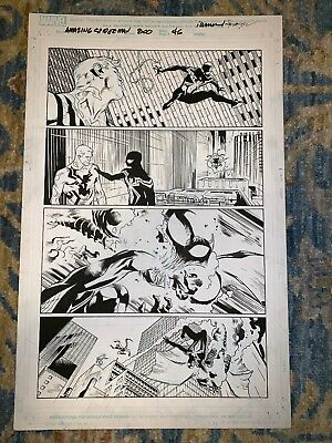 The Amazing Spider-Man #800 page 46 Original Comic Art Stuart Immonen Grawbadger
