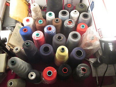 Large Lot of Embroidery Thread Cones  Embroidery Machine Thread
