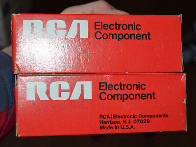 LOT OF 2 NEW VINTAGE RCA 807 Vacuum Tubes