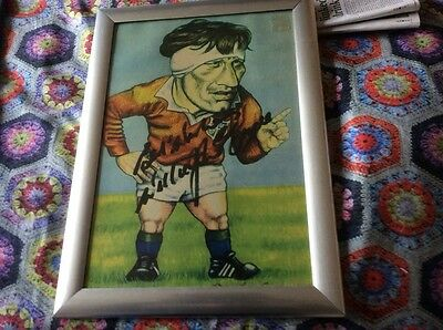 British Lions and Ireland captain Willie John Mcbride signed caricurcure