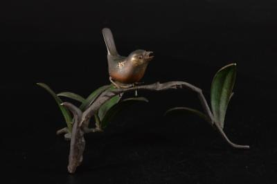 G1826: Japanese Casting copper BIRD STATUE sculpture Ornament Figurines