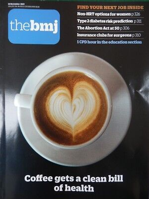 Bmj British Medical Journal 25 November 2017 Coffee Gets Clean Bill Of Health