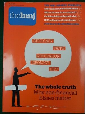 Bmj British Medical Journal 14 April 2018 Non Financial Biases