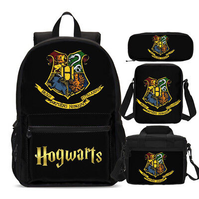 Harry Potter Hogwarts Teens Backpack Insulated Lunch Box Cross Bag Pen Case Lot