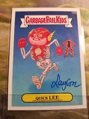 GARBAGE PAIL KIDS 2014 SERIES 2 QUICK LEE LAYRON AUTO autograph card 123A