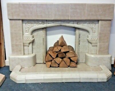 Genuine Reclaimed 1940s Gregorian era Fireplace | Victorian Old Rustic Antique