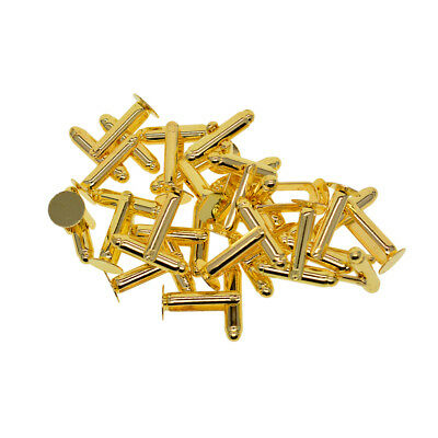 20pcs Round Bezel Tray Settings Cuff Links Blanks Fit 8mm dia Cabochon Gold
