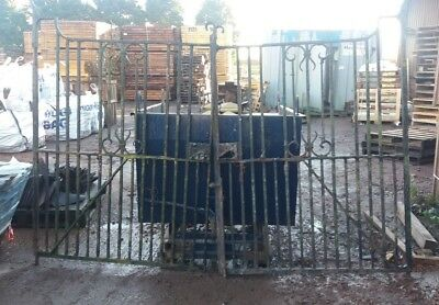 Genuine Reclaimed Wrought Iron Gates Driveway | Vintage Old Rustic Antique