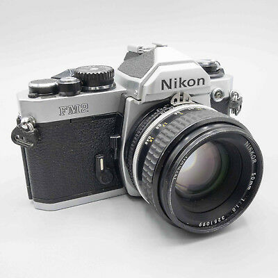 Nikon FM2n+Nikkor 50mm f/1.8 AI-S - 100% Working - See Details - 60 Day Returns
