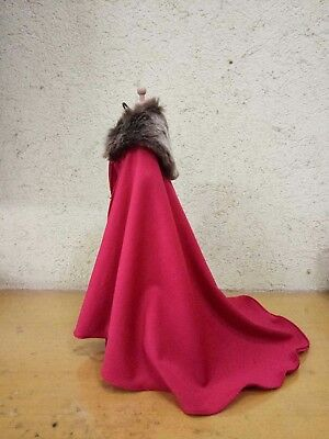 """1/6 Scale Red Long Cape Cloak Model FOR 12"""" Female&Male Body Figure Doll TOYS"""