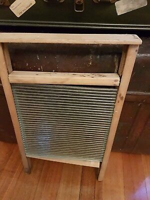 Antique Glass Wash Board Vintage Collectable A piece of History Old Australiana