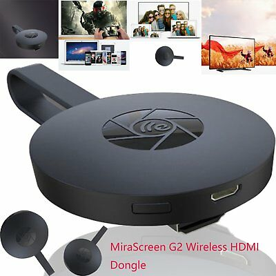 Wireless Display Receiver MiraScreen Ultimate G2 1080P HDMI Dongle 2.4GHz 600MHz