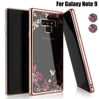 For Samsung Galaxy Note 9 8 4 5 3 Diamond Plating Clear Soft Silicone Case Cover