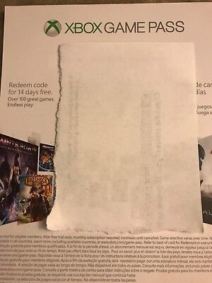 XBOX ONE GAME PASS 14 DAYS SUBSCRIPTION TRIAL (email delivery)