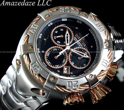 NEW Invicta Men's 52mm Thunderbolt Swiss Chronograph Stainless Steel Watch !!