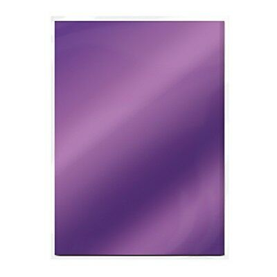 (electric Purple) - Craft Perfect High Gloss Mirror Card A4, Electric Purple