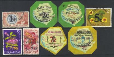 SIERRA LEONE 1964-1966 DECIMAL CURRENCY (2nd ISSUE) USED SET OF 8