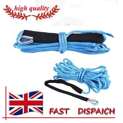 6600 lbs Nylon Winch Rope Synthetic Winch Rope  for ATV UTV Truck Blue