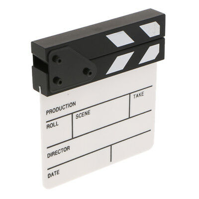Acrylic Movie Props Film Making Clap Board Director Clapboard Black White