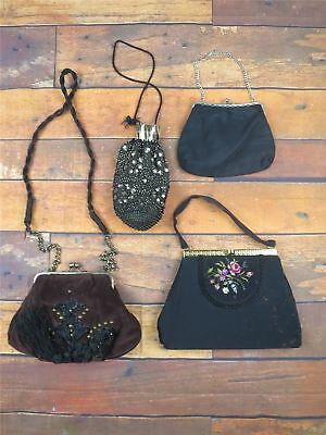 Vintage Womens Job Lot Of 10 Mixed Evening Clutch Bags Some Shabby