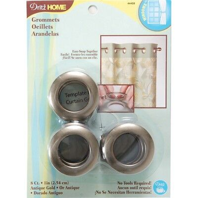 "Dritz Home Curtain Grommets 1"" Inner Diameter Plastic 8/pkg-antique Gold"