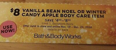 Bath & Body Works Coupon $8 Winter Body Care Item
