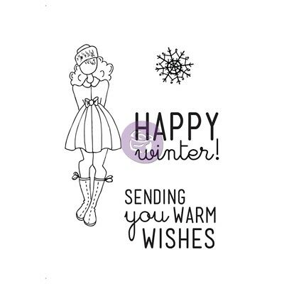 """Julie Nutting Mixed Media Cling Rubber Stamps-warm Wishes Set 4""""x6"""""""