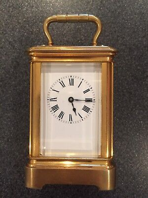 High Quality Fully Serviced Miniature Gold Plated Brass Cased Carriage Clock