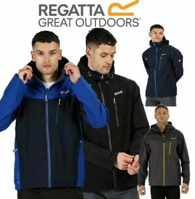 REGATTA MENS BOLSON JACKET COAT WATERPROOF ISOTEX RED GREY BREATHABLE MW291 D2