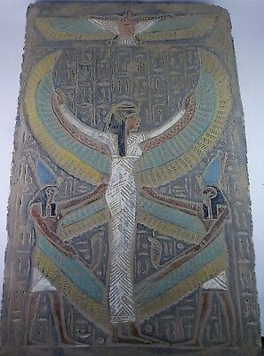 RARE ANCIENT EGYPTIAN ANTIQUE ISIS and HORUS Stela 1648-1558 BC