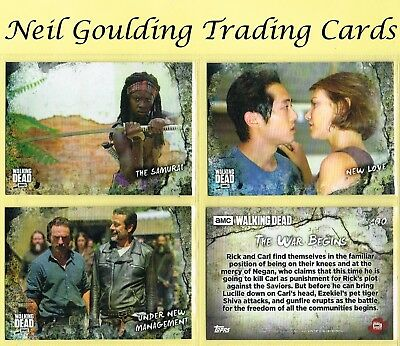 The Walking Dead - ROAD TO ALEXANDRIA ☆ Complete Set of 100 Base Cards ☆