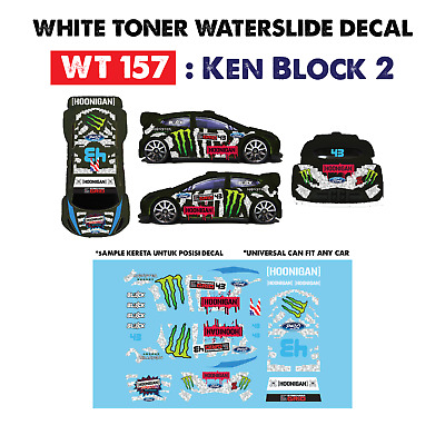 WT157 White Toner Waterslide Decal > KEN BLOC 2 > For Custom 1:64 Hot Wheels