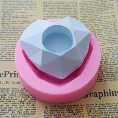 Heart Silicone Cake Molds Plaster Concrete Flower Pot Candle Holder Moulds